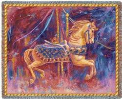 Carousel Horse Tapestry Throw