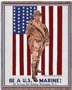 Be a Marine Tapestry Throws