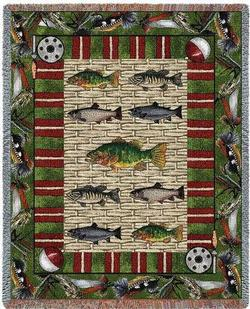 Gone Fishing Tapestry Throw