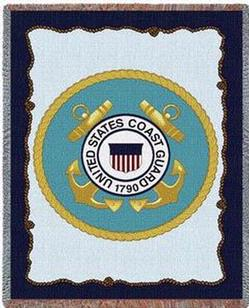 United States Coast Guard Tapestry Throw