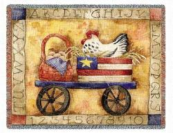 A Chicken In Every Pot Tapestry Throw