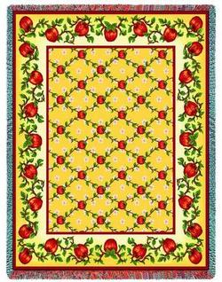 Apple Season Tapestry Throw