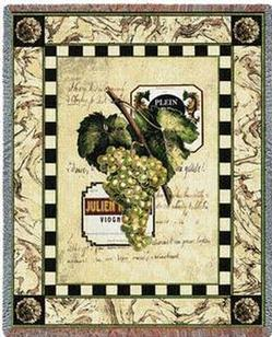 Grapes and Labels I Tapestry Throw