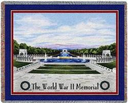World War II Memorial Tapestry Throw