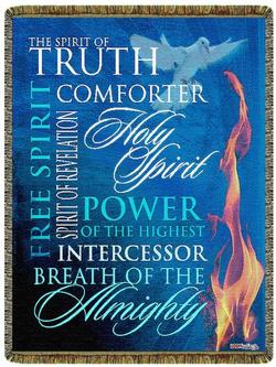 Holy Spirit Tapestry Throw