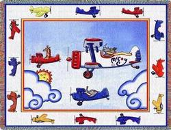 Airplanes Tapestry Throw