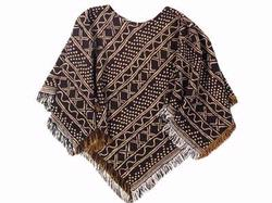 Mud Cloth Poncho