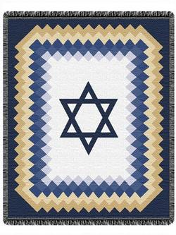 SALE Star of David Throw Blanket