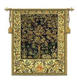 Tree of Life Midnight Blue Lg Tapestry Fine Art Wall Hangings