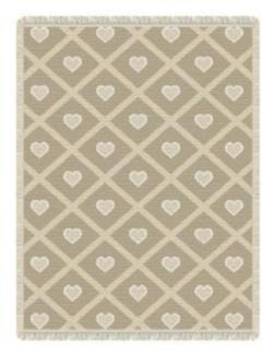 Petite Hearts Mini Naturals Woven Throw Blanket