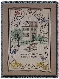 Home Is Where Your Story Begins Throw Blanket