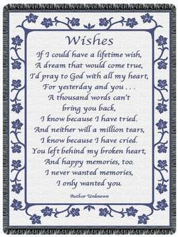 Wishes Country Blue Throw Blanket