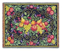 Fruit Design Tapestry Throw