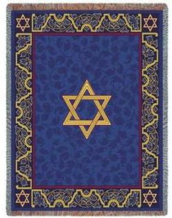 Magen David Tapestry Throw