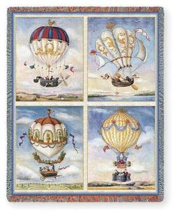 Balloon Collage Tapestry Throw