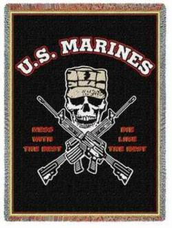 Mess With The Best Marine Corps Throw Blanket