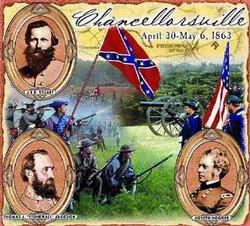 Chancellorsville Battle Tapestry Throw