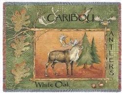 Caribou  Tapestry Throw
