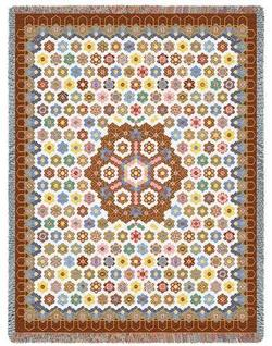 Honeycomb Quilt Tapestry Throw