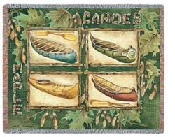 Canoes Tapestry Throw