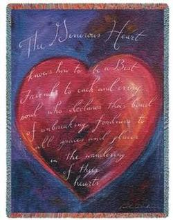 Generous Heart Tapestry Throw