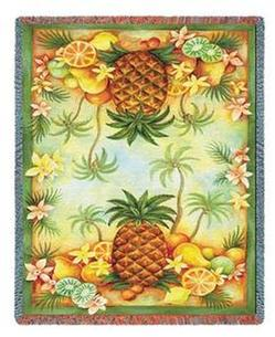 Pineapples & Fruit Tapestry Throw