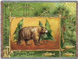 Brown Bear Tapestry Throw
