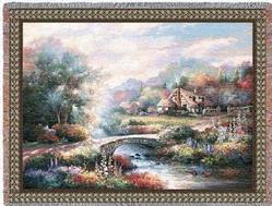 Country Bridge Tapestry Throw
