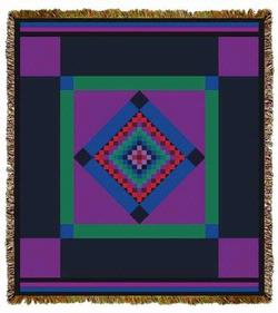 Amish Quilt Tapestry Throw
