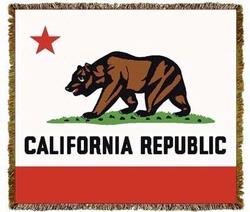 California State Bear Tapestry Throw Blanket