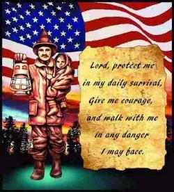 Quiet Strength Firefighter Statue Tapestry Throw