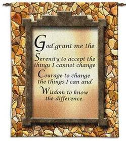 Serenity Prayer Tapestry Wall Hanging