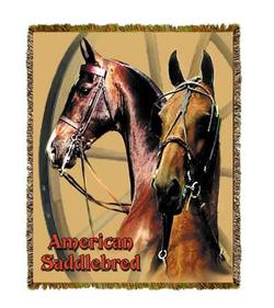 American Saddlebred Horse Tapestry Throw
