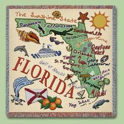 Florida State Tapestry Lap Throw