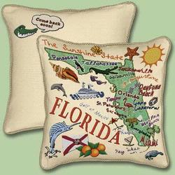 Florida State Tapestry Throw Pillow