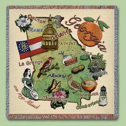 Georgia State Tapestry Lap Throw