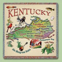 Kentucky State Tapestry Lap Throw