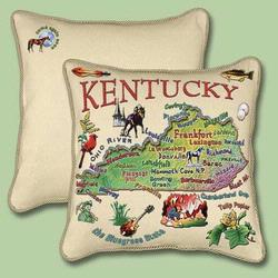 Kentucky State Tapestry Throw Pillow