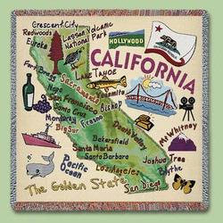 California State Tapestry Lap Throw