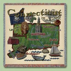 Connecticut State Tapestry Lap Throw