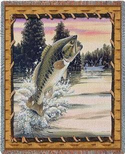 Bass Attack Tapestry Throw