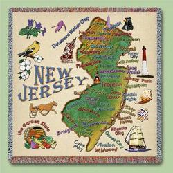 Jersey State Tapestry Lap Throw
