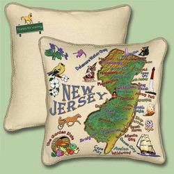 Jersey State Tapestry Throw Pillow