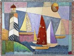 Bay Regatta Tapestry Throw