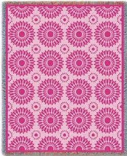 Blossom Pink Tapestry Throw