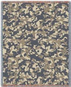 Camo Desert Tapestry Throw