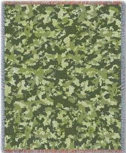 Camo Woods Tapestry Throw