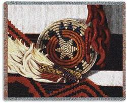 Indian Market Tapestry Throw
