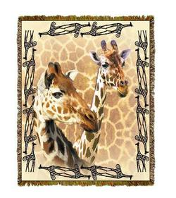 Giraffe Tapestry Throw