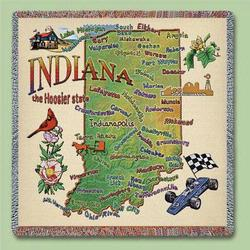 Indiana State Tapestry Lap Throw
